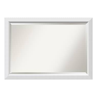 Amanti Art Wall Mirror Extra Large, Blanco White, 40