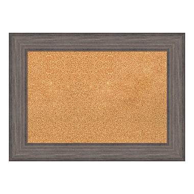 Amanti Art ? Tableau de liège encadré, moyen, bois de grange rustique