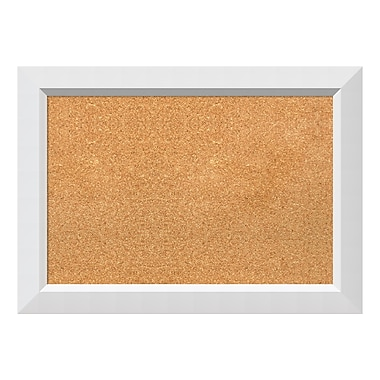 Amanti Art Framed Cork Board Medium, Blanco White, 28