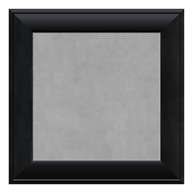 Amanti Art Framed Magnetic Board Small Square, Nero Black, 16