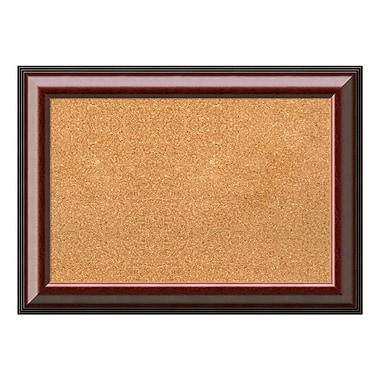 Amanti Art Framed Cork Board Medium, Cambridge Mahogany, 29