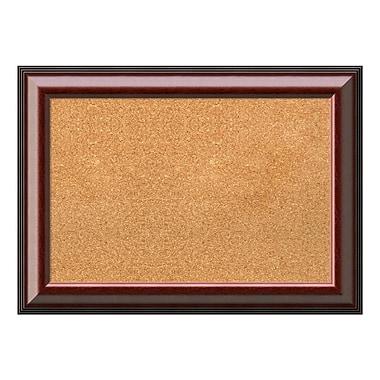 Amanti Art Framed Cork Board Medium, Cambridge Mahogany, 29