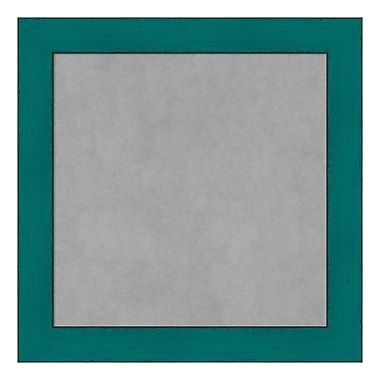 Amanti Art Framed Magnetic Board Small Square, French Teal Rustic, 14