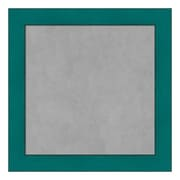 Amanti Art Framed Magnetic Board Small Square, French Teal Rustic