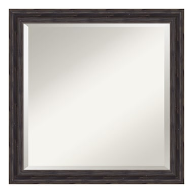 Amanti Art – Miroir mural carré, bois de pin rustique, 23 x 23 po (DSW3907467)