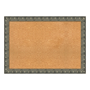 Amanti Art Framed Cork Board Extra Large, Barcelona Champagne, 40