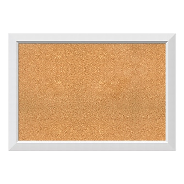 Amanti Art Framed Cork Board Extra Large, Blanco White, 40