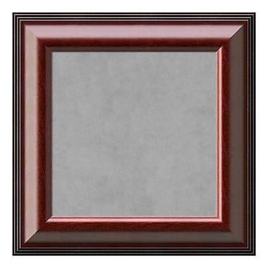 Amanti Art Framed Magnetic Board Small Square, Cambridge Mahogany, 17