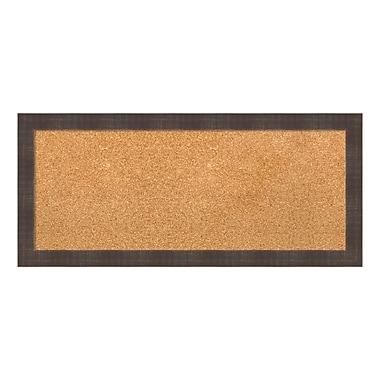 Amanti Art Framed Cork Board Panel, Whiskey Brown Rustic, 33