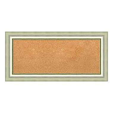 Amanti Art Framed Cork Board Panel, Vegas Burnished Silver, 35
