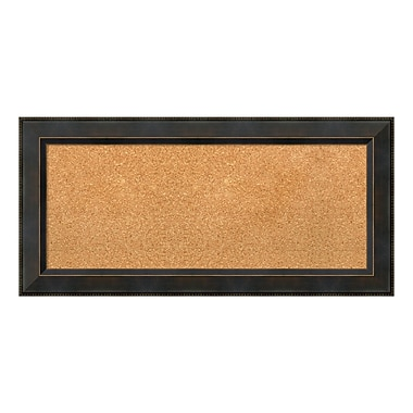 Amanti Art Framed Cork Board Panel, Signore Bronze, 35