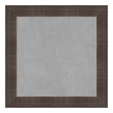 Amanti Art Framed Magnetic Board Small Square, Whiskey Brown Rustic, 15