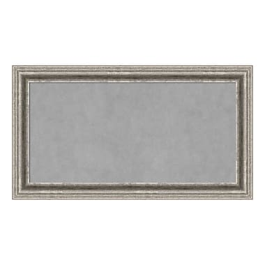 Amanti Art Framed Magnetic Board Medium, Bel Volto Silver, 27
