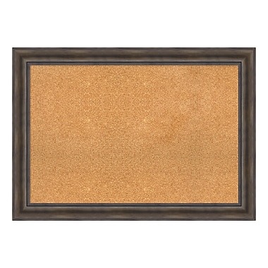 Amanti Art Framed Cork Board Extra Large, Rustic Pine, 42