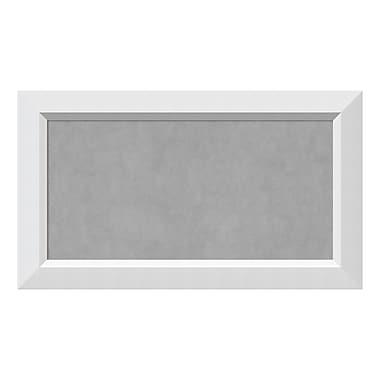 Amanti Art – Tableau magnétique encadré, moyen, blanc Blanco, 28 x 16 po (DSW3908051)