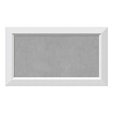 Amanti Art Framed Magnetic Board Medium, Blanco White, 28