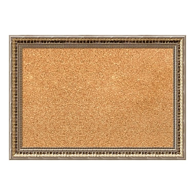 Amanti Art Framed Cork Board Small, Fluted Champagne, 21