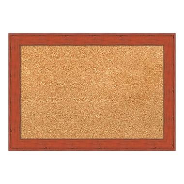 Amanti Art Framed Cork Board Small, Bourbon Orange Rustic, 20