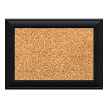 Amanti Art Framed Cork Board Small, Nero Black, 22