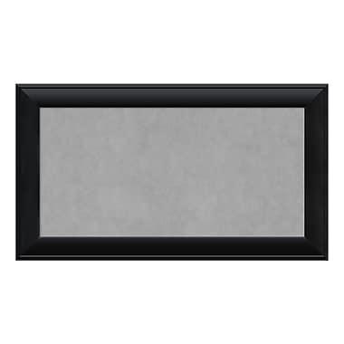 Amanti Art Framed Magnetic Board Medium, Nero Black, 28