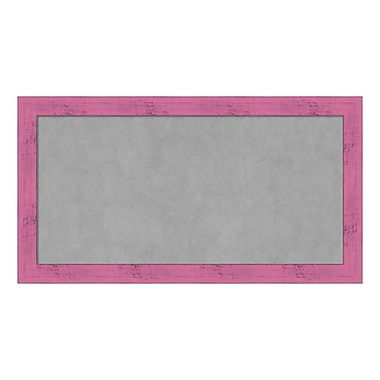 Amanti Art Framed Magnetic Board Medium, Petticoat Pink Rustic, 26