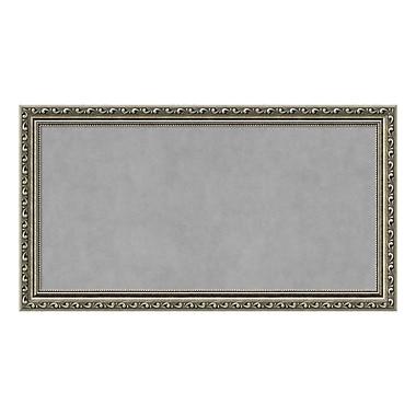 Amanti Art Framed Magnetic Board Medium, Parisian Silver, 27