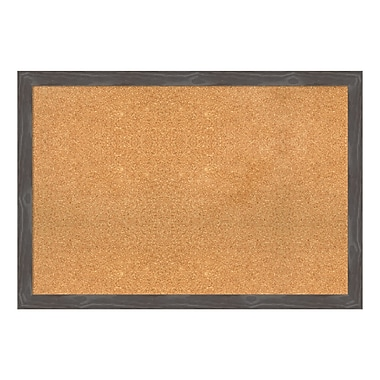 Amanti Art Framed Cork Board Extra Large, Woodridge Rustic Grey, 39