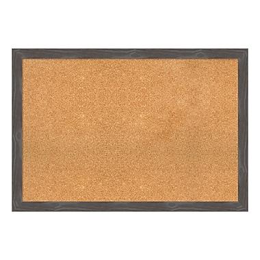 Amanti Art – Tableau encadré en liège, très grand, gris rustique Woodridge, 39 x 27 po (DSW3907813)