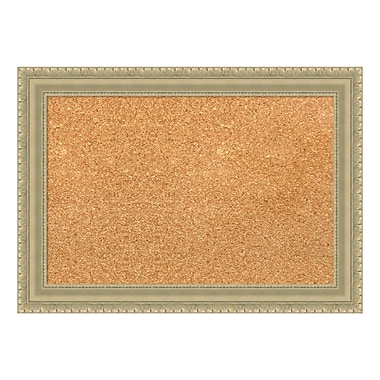 Amanti Art Framed Cork Board Small, Champagne Teardrop, 21