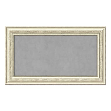 Amanti Art Framed Magnetic Board Medium, Country White Wash, 29