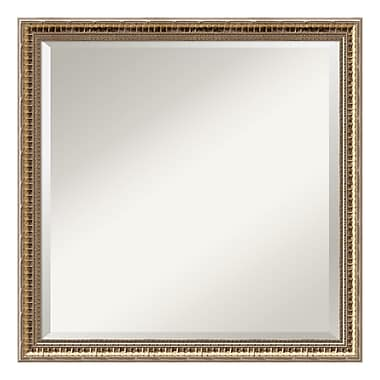Amanti Art Wall Mirror Square, Fluted Champagne, 23