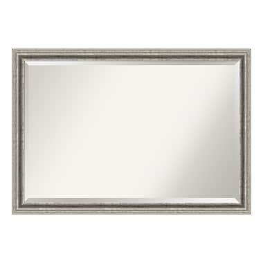Amanti Art Wall Mirror Extra Large, Bel Volto Silver, 39