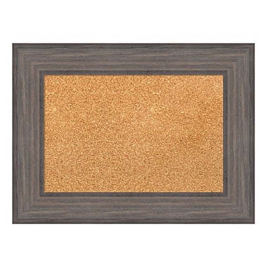 Amanti Art Framed Cork Board Small, Country Barnwood, 24