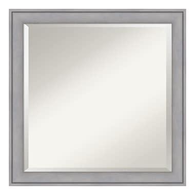 Amanti Art Wall Mirror Square, Graywash, 23