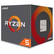 AMD Ryzen 5 1400 Quad-Core Processor with Wraith Spire Cooler, 8-Thread, AM4, 3.2 GHz, 65W (YD1400BBAEBOX)