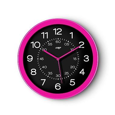 CEP – Horloge de 12 po de diamètre, cadran noir et cadre rose (820GPK)