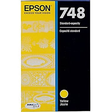Epson - Cartouche d'encre T748 DuraBrite Pro jaune, capacité standard (T748420)