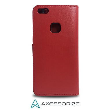 Axessorize Folio Cell Phone Case for Huawei P10 lite, Red (FOLP10LR)