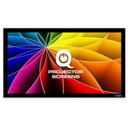 Qualgear 16:9 Fixed Frame Projector Screen, 92-Inch 3D High Reflective Silver At 2.5 Gain (Qg-Ps-Ff6-169-92-S)