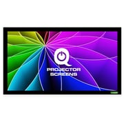 Qualgear 16:9 Fixed Frame Projector Screen, 135-Inch High Definition 0.9 Gain Acoustic White (Qg-Ps-Ff6-169-135-A)