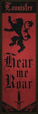 East Urban Home 'Banner of House Lannister' Graphic Art on Wrapped Canvas; 48'' H x 16'' W x 1.5'' D