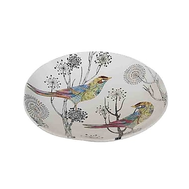 August Grove Dolomite Decorative Plate w/ Bird
