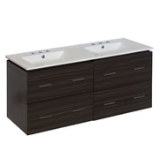 Orren Ellis Kyra 48'' Rectangle Double Bathroom Vanity; 8'' Centers