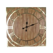 Corrigan Studio Oversized Wood Wall Clock
