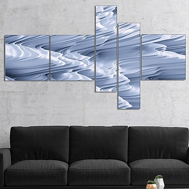 East Urban Home 'Snowy Hills 3D Texture' Graphic Art Print Multi-Piece Image on Canvas