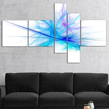 East Urban Home 'Criss Cross Spectrum of Light' Graphic Art Print Multi-Piece Image on Canvas