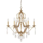 Willa Arlo Interiors Destrey 6-Light Candle-Style Chandelier; Antique Gold