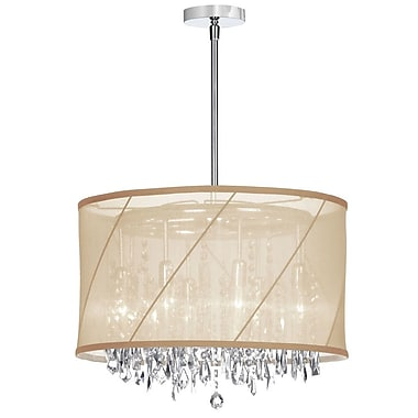 Willa Arlo Interiors Deston 6-Light Drum Chandelier; Beige