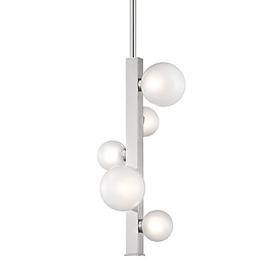 Willa Arlo Interiors Diannah 5-Light LED Cluster Pendant; Polished Nickel