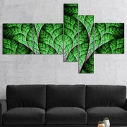 East Urban Home 'Exotic Green Biological Organism' Graphic Art Print Multi-Piece Image on Canvas